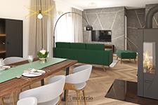 ma.terio - projektant wnętrz poznan - elegancka zieleń salon