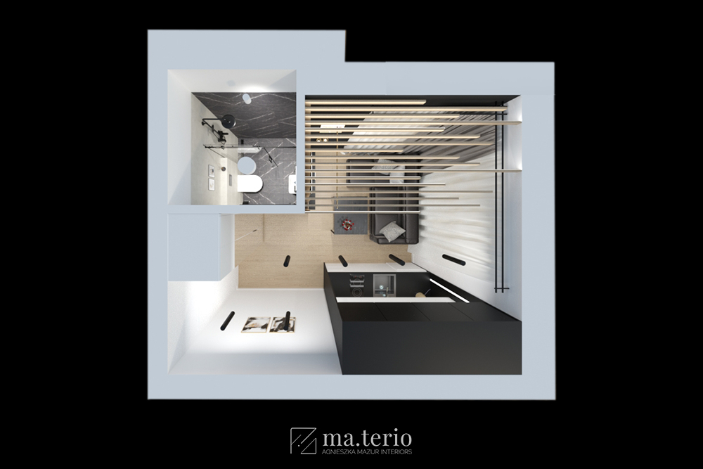 APARTAMENT W KARPACZU 1 projektowanie wnetrz poznan materio